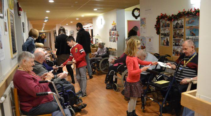rencontre intergénérationnelle avec des enfants de l'école st joseph d'Irodouër le 19 décembre